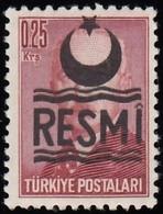 "TURKEY - Scott #O24b President Inonu ""Overprinted"" / Mint NH Stamp - 1921-... Republic"