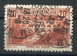 RC 11260 FRANCE N° 262B - 20f PONT DU GARD DENTELÉ 11 COTE 450€ OBL. TB - Oblitérés