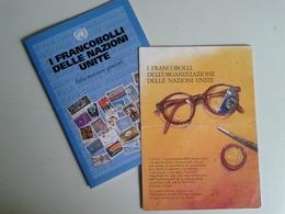 Alt1071 Depliant ONU Francobolli Nazioni Unite Pubblicitari Info Generali Ginevra New York Vienna - Sonstige Bücher