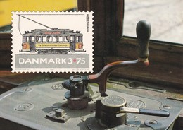 Dänemark Ganzsache 1994 - Postkarte MiNr P 290 - Mint - Dänische Straßenbahnen Engelhardt Straßenbahnwagen - Cartoline Maximum