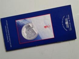 Alt1070 Depliant Informativo Emissione Monete Ufficiali Olimpiadi Invernali Albertville 92 Monnaie Paris Winter Games - Books & Software