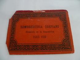 EXPOSITION DE PARIS 1889 - Carte De Visite Chapeaux - Visiting Cards