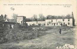 77 PUISIEUX - Ferme De Poligny Incendiée Par Les Allemands - France