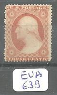 EUA Scott 26A (x) No Gum - Unused Stamps