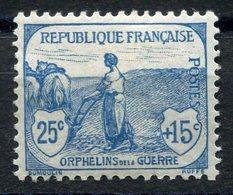 RC 11261 FRANCE N° 151 - 25c + 15c ORPHELINS COTE 90€ NEUF * MH TB - France
