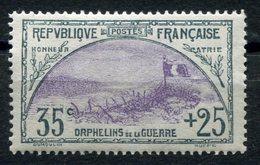 RC 11262 FRANCE N° 152 - 35c + 25c ORPHELINS COTE 190€ NEUF * MH TB - France