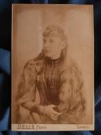 Photo Format Cabinet Délié à Tarbes - Jeune Fille à La Longue Chevelure Circa 1895 L414 - Photos