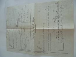 Vieux Document De La Cartoucherie D'Alger Avec Menus Recopiés Pour Les Soldats (1922) - Factures & Documents Commerciaux