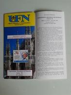 Alt1069 Depliant Informativo Emissione Congiunta Città Vaticano Papa Giovanni Paolo Expo Mondiale Filatelia Italia 98 - Timbres