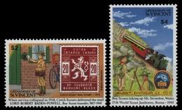 St. Vincent-Grenadinen 1991 - Mi-Nr. 816-817 ** - MNH - Pfadfinder / Scouts - St.Vincent & Grenadines