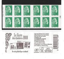CARNET Daté 16.11.18 .Le Livre Des Timbres 2018. Marianne L'engagée Yseult  YZ - Booklets
