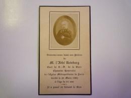 FAIRE-PART De Décès De  L'Abbé  REINBURG   1902   XXX - Décès