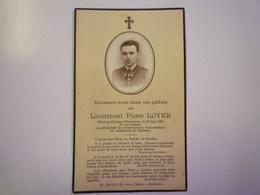 FAIRE-PART De Décès Du  Lieutenant  Pierre  LOYER  Mort Au Champ D'Honneur   1940   XXX - Décès