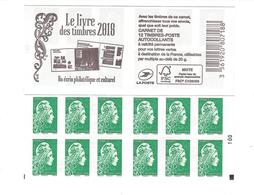 CARNET Carrés Noirs .Le Livre Des Timbres 2018. Marianne L'engagée Yseult  YZ - Booklets