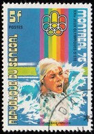 SENEGAL - Scott #433A Montréal '76 Olympic Games, Swimming / Used Stamp - Summer 1976: Montreal