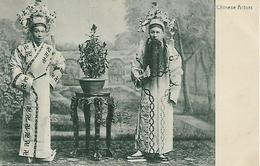 Old Postcard, China, Chinese Actors, Theatre, Vase, Table. - Chine (Hong Kong)