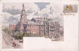 "CPA  Australie - Sydney - ""Atlas"" Town Hall - Hôtel De Ville - Sydney"