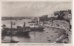 MALTA - VIEW OF GRAND HARBOUR SHOWING MARINA AND VALLETTA - Malta