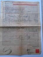 ZA159.31 Hungary Railway - Train - Frachtbrief - Lettre De Voiture - Békéscsaba Kossuth Tér 1958 - Factures & Documents Commerciaux