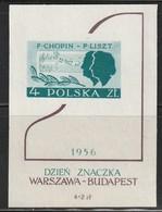 POLOGNE - BLOC N°18 **  (1956) F.Chopin - F.Liszt - Blocchi E Foglietti
