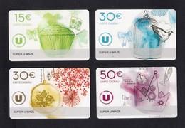 4 CARTE CADEAU SUPER U   MAZE  (49)    Gift Card.  Geschenkkarte - Cartes Cadeaux