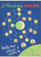 Feuille Dépliante : Le Planétarium Philips (Création M. Brunot ), Grand Concours 1960 ( Planètes, Soucoupes Volantes ) - Publicités