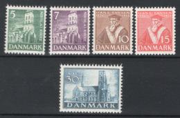 Danimarca 1936 Unif. 241/45 **/MNH VF - Unused Stamps