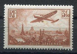 RC 11270 FRANCE PA N° 14 - 3f50 BRUN JAUNE AVION SURVOLANT PARIS COTE 125€ NEUF ** MNH TB - Airmail
