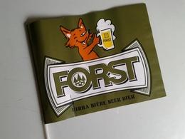 Alt1067 Bandiera Drapeau Promozionale Birra Bier Biere Forst Boccale Volpe Fox - Altre Collezioni