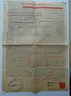 ZA159.32 Hungary Railway - Train - Frachtbrief - Lettre De Voiture - Békéscsaba Kossuth Tér 1958 - Facturas & Documentos Mercantiles