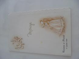 Menu Mariage 1982 - Menu