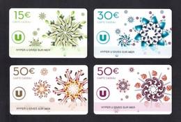 4 CARTE CADEAU HYPER U   DIVES SUR MER  (14)  Gift Card.  Geschenkkarte - Cartes Cadeaux