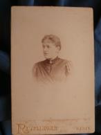 Photo Format Cabinet Reutlinger à Paris - Portrait Femme Circa 1890 L415 - Photos