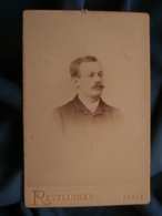 Photo Format Cabinet Reutlinger à Paris - Portrait Nuage Homme Circa 1890 L415 - Photos