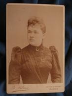 Photo Format Cabinet G. Blanc à Paris - Portrait Femme Circa 1890-95 L415 - Photos
