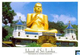 Sri Lanka Postcards, Golden Buddha, Dambulla, UNESCO, Postcrossing - Sri Lanka (Ceylon)