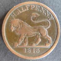 Großbritannien 1813 - Half Penny Token Essex, Walthamstow Löwe Kupfer Ss     - Tokens & Medals