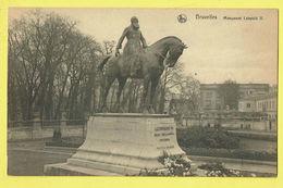 * Brussel - Bruxelles - Brussels * (Nels, Série 1, Nr 155) Monument Leopold II, Cheval, Statue, Mémorial, Rare, Roi - Bruxelles-ville