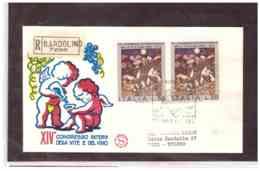 FDC5031   -   BARDOLINO    28.9.1974   /    RACC. FDC  XIV CONGRESSO INT.LE DELLA VITE E DEL VINO - Agricoltura