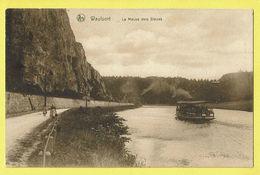 * Waulsort (Hastière - Namur - La Wallonie) * (Nels) La Meuse Vers Dinant, Bateau Touriste, Quai, Canal, Animée, TOP - Hastière