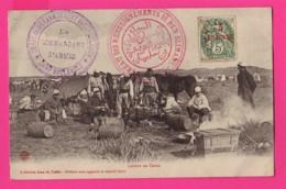 """CPA (Réf Z 1073) (MAROC) """"Militaires"""" Loisirs Au Camp Campagne Du Maroc 1907-1909 (beau Cachets Militaires) - Manoeuvres"""