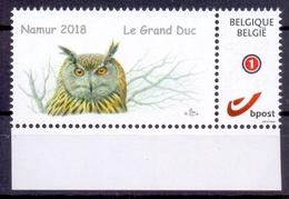 Belgie - 2018 - ** Duostamp - Le Grand Duc - Namur 2018 ** - 1985-.. Oiseaux (Buzin)