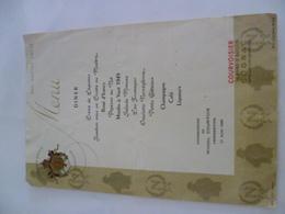 89- YONNE- Menu 1956 - Réclame Cognac Napoléon - Menus