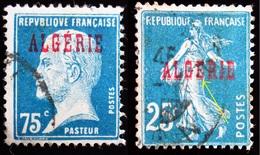 1924  Algérie Yt 14 Semeuse . Yt 26 Pasteur . Oblitérés Dédoublement ALGERIE Sur La Semeuse - Oblitérés