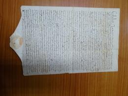Manoscritto Documento Emanato Dalla Sacra Congregazione Della Fabbrica Di S. Pietro Orvieto 1640 - Documenti Storici
