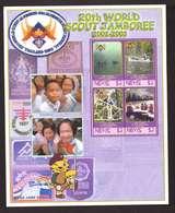 Nevis Feuillet Bloc Neuf ** MNH 20eme World Scout Jamboree 2002 2003 Scoutisme - Antilles