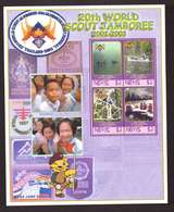 Nevis Feuillet Bloc Neuf ** MNH 20eme World Scout Jamboree 2002 2003 Scoutisme - West Indies