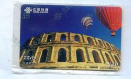 China Unicom Prepaid Cards, Hot Air Balloon, Colosseum, National Card (1pcs,MINT) - China