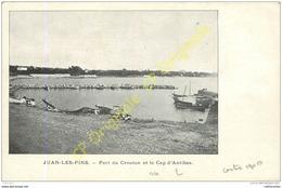 06. JUAN LES PINS . Port Du Crouton Et Le Cap D'Antibes . - Antibes
