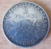 France - Monnaie 2 Francs Semeuse Roty 1899 En Argent - TTB+ - France